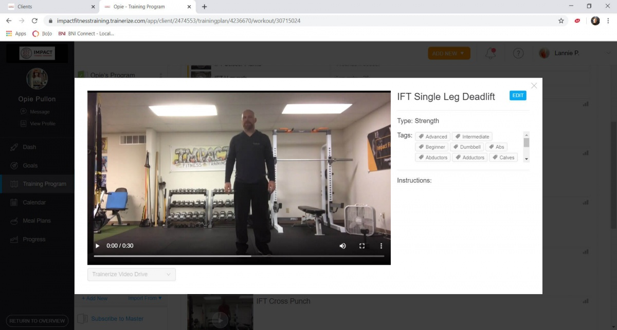 Impact Fitness Bloomington - Online Personal Training App 5